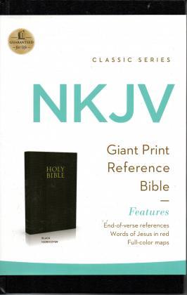 NKJV Giant Print Ref Blck HC
