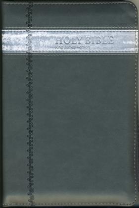 KJV 1611 - 2011 - CHARCOAL FLEX ZIP COVER