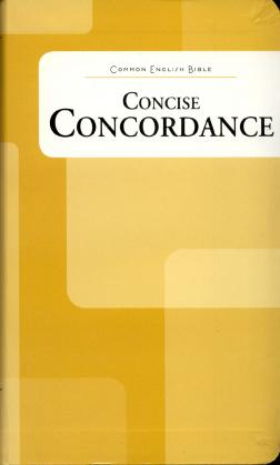CONCISE CONCORDANCE - COMMON ENGLISH BIBLE