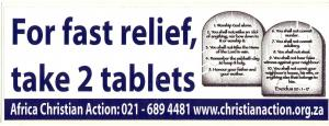 FOR FAST RELIEF, TAKE 2 TABLET