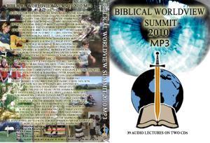 BIBLICAL WORLDVIEW SUMMIT 2010
