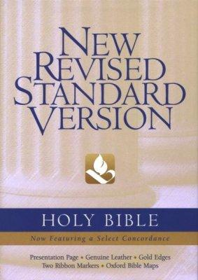 NRSV Bible Blk GenLthr