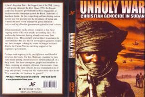 UNHOLY WAR - CHRISTIAN GENOCIDE IN SUDAN - DVD